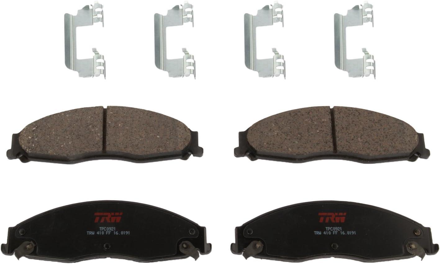 TRW Automotive TPC0921 Ceramic Black Premium Disc Brake Pad Set 153 Pack