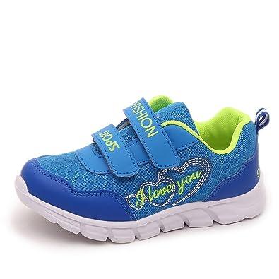 Kinder Jungen Mädchen Sport Flache Schuhe Outdoor Leichte Atmungsaktive Turnschuhe Kids Anti-Slip-Trainer Toddle Kleine Große Kinder für 4-12 Jahre Alt qVQU8