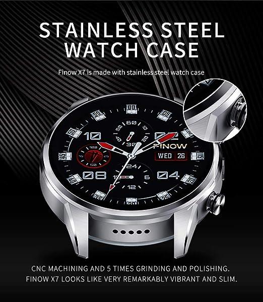 FINOW X7 - Reloj Inteligente MTK6739 Procesado (Plata): Amazon.es ...