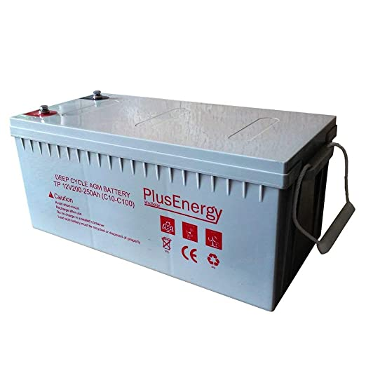Bateria AGM/GEL PlusEnergy 12V 250AH / 150AH - Ciclo Profundo AGM 150AH: Amazon.es: Industria, empresas y ciencia