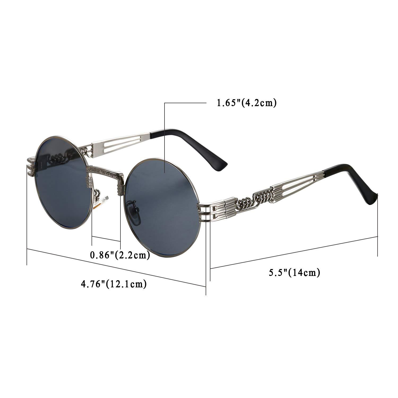 Aroncent Aroncent Aroncent Unisex Retro Rund Polarisierte Sonnenbrille, Vintage Metallrahmen Brille für Herren Damen B07GXHP4ZQ Sonnenbrillen Die erste Reihe von umfassenden Spezifikationen für Kunden 22174d