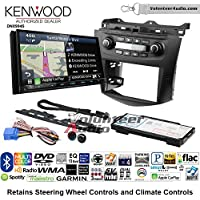 Volunteer Audio Kenwood Excelon DNX994S Double Din Radio Install Kit with GPS Navigation Apple CarPlay Android Auto Fits 2003-2007 Honda Accord (Factory climate controls)