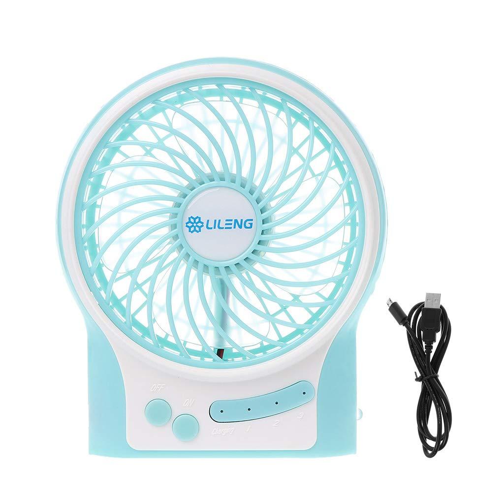 EAPTS Mini Portable Battery Powered USB LED Light Fan Handheld Pocket PC Fan Air Cooler Electric Laptop Fan Home Office