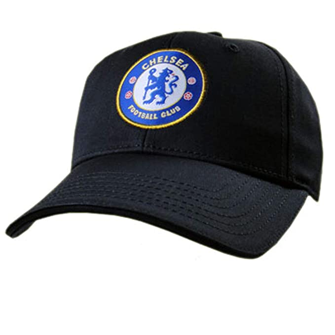 Chelsea FC Crest Baseball Cap - Navy Blue - Adjustable Back - Adult  Baseball Cap - 43db929634e