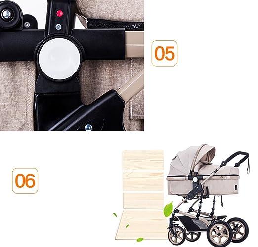 El cochecito de bebé, puede montar el carro de bebé, el coche de bebé de alto nivel, el cochecito de bebé de choque, la carretilla de cuatro niños redonda ...