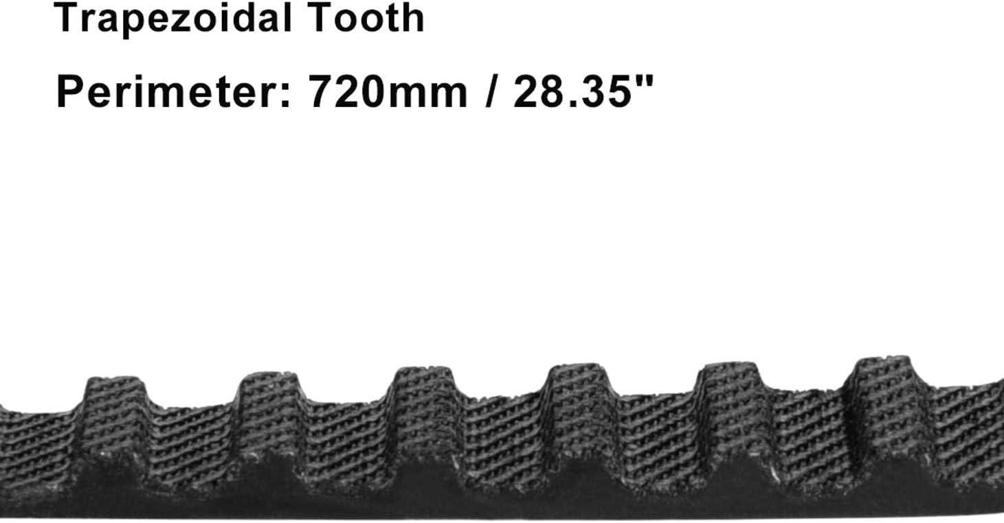 PRINDIY La Courroie de Distribution en Caoutchouc Roule la Ceinture synchrone de Boucle ferm/ée de la Largeur T5-450 doutils de 10mm