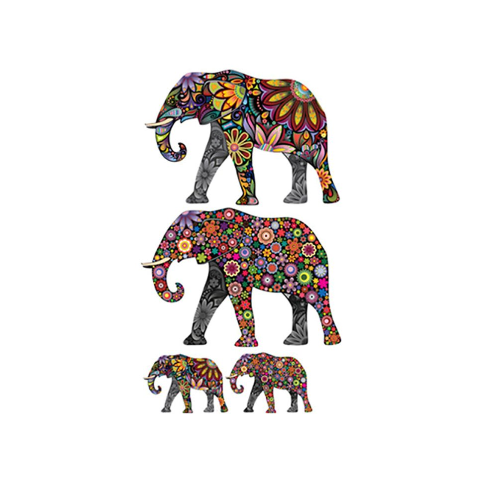 Adarl DIY Elephant Wall Stickers Mural Art Vinyl Home Decoration Wall Decals