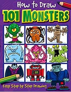 how to draw 101 monsters easy step by step drawing how to - Drawing Books For Boys