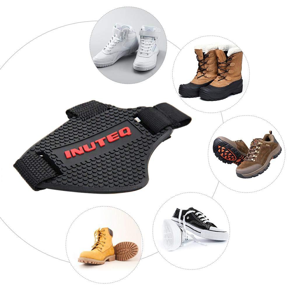 Prot/ège Chaussures Moto Ai CAR FUN Protection Chaussure Moto 1 Pair Anti-Abrasion Couvre Protecteurs de Chaussure Bottes pour Levier de Vitesses Moto