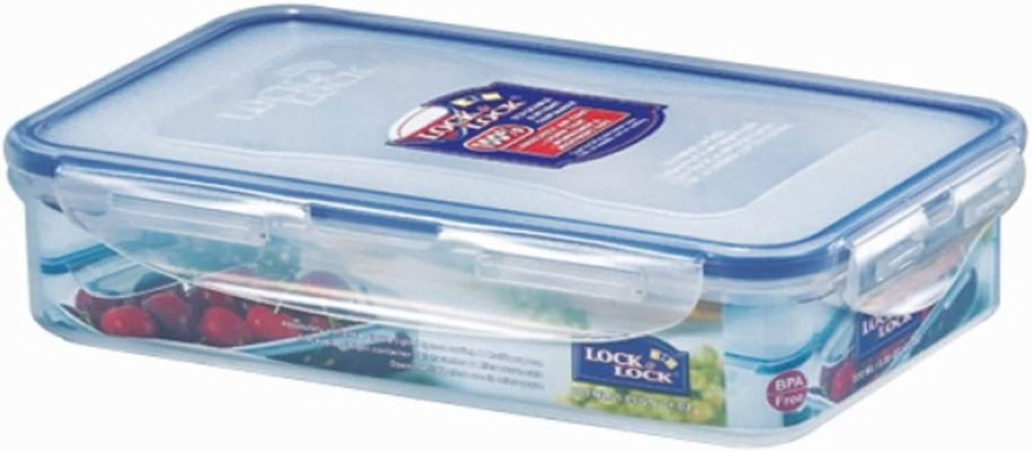 Lock & Lock HPL816 - Set de 6 fiambreras rectangulares (800 ml)