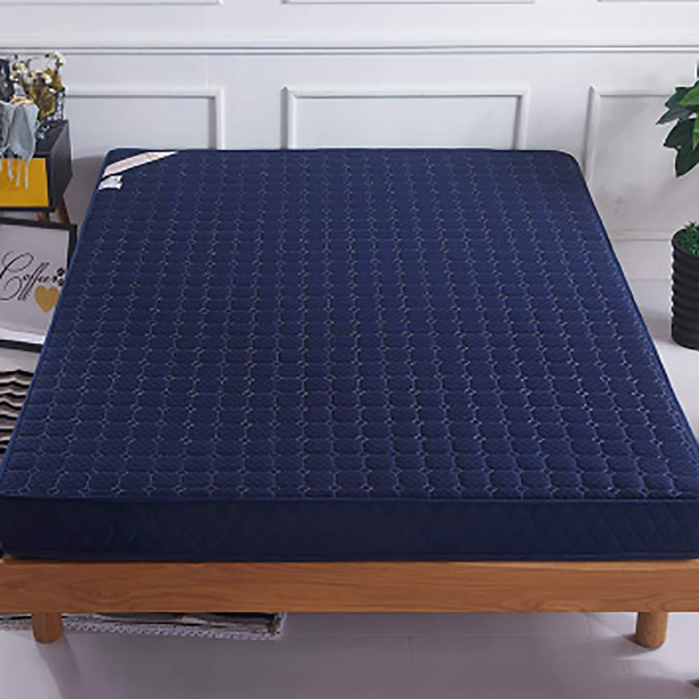 記憶泡 マットレス, キルト ポリエステル リビング ルーム ベッド ロール 厚く スリップ 柔らか\ソフト 快適さ 高級 床 食品-ブルー 120x190x10cm B07K7P4CKJ ブルー 120x190x10cm