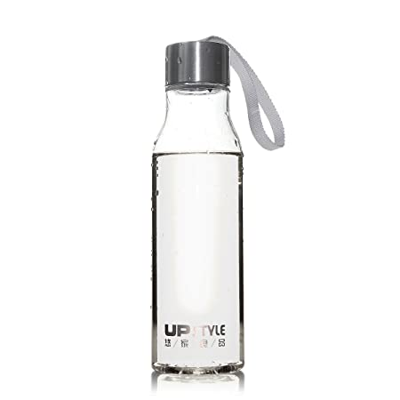 UPSTYLE transparente plástico botella para hacer deporte con cuerda de nailon sin BPA bebidas botellas de agua a prueba de fugas par taza de viaje ...