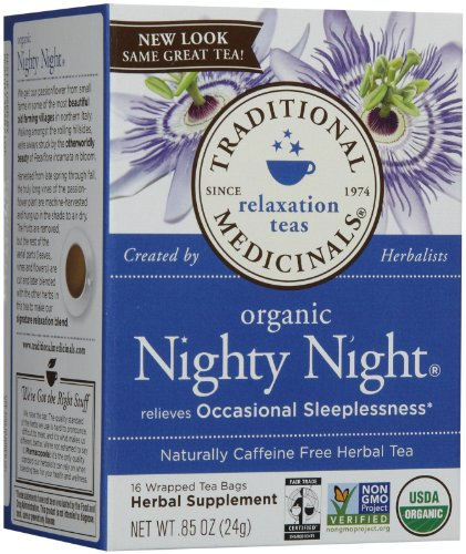 Traditional Medicinals Organic Fair Trade Certified Nighty Night Herbal Wrapped Tea Bags - 16 ct