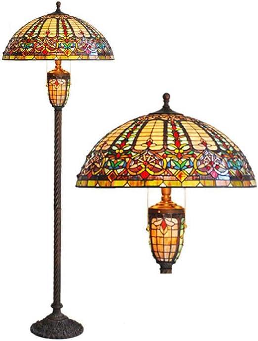 Lámpara de pie de estilo Tiffany, lámpara de pie de cristal ...