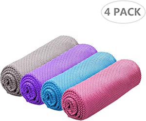 U-picks Cooling Towel for Instant Cooling Relief,100% Microfiber Chilly Towel,Soft Breathable Ice Towel for Yoga,Camping,Sports,Gym
