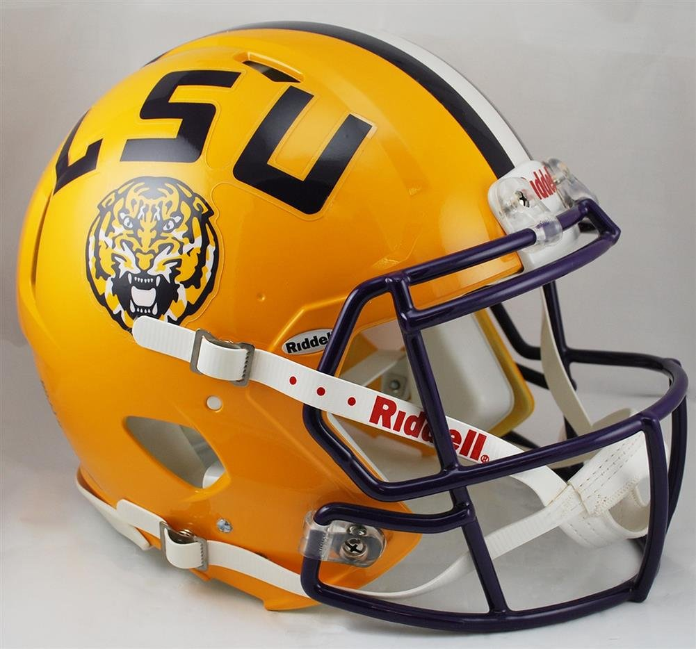Amazon.com : NCAA Riddell LSU Tigers Speed Full-Size Authentic ...