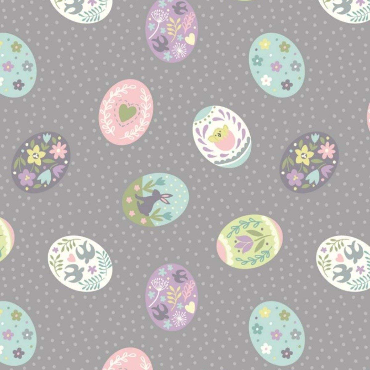 Rabbits white spring bunny mint flower pink FABRIC 100/% COTTON x PER HALF METRE