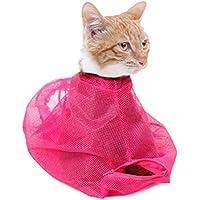CHUER Haustier-Katzen-Pflege-waschende Bad-Tasche, verkratzende beissende Rueckhalte-Polyester-Ineinander greifen-Tasche Fuer Dusche, Reinigungs-Ohr, Ausschnitt-Naegel, Medizin-Fuetterung