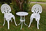 Angel White Garden Bistro Set - Table and Two Chairs for Yard, 3 Pieces Product SKU: PB11118