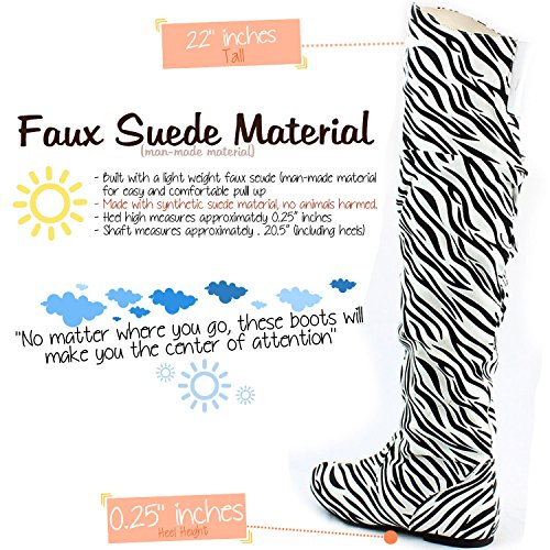SV Knee High M Fashion DailyShoes Zebra Thigh Over US 12 Boots B the Hi xrzq7qYI