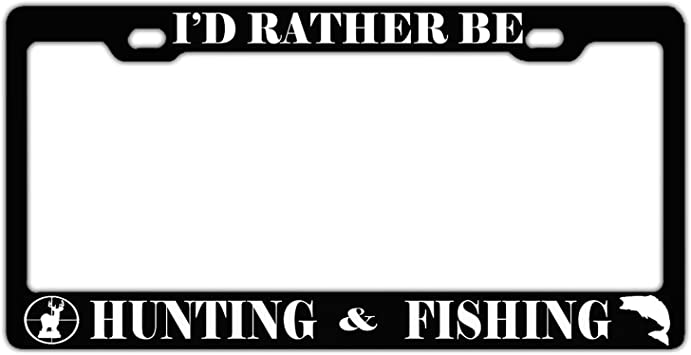 Any Text Personalized Custom License Plate Auto Car Tag I/'d Rather Be Hunting