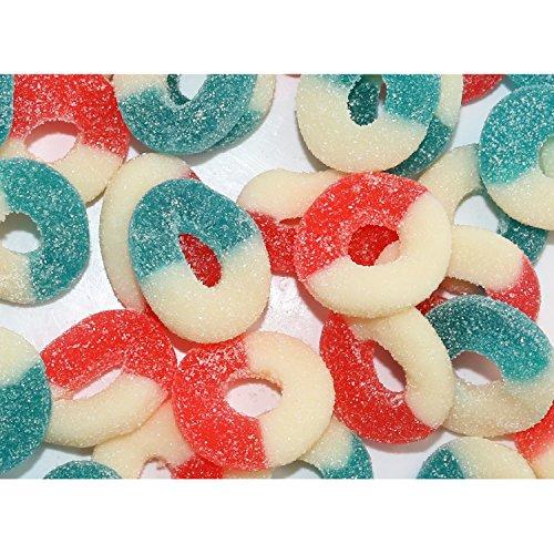 FirstChoiceCandy Patriotic Gummi Freedom Gummy Rings (2 LB)
