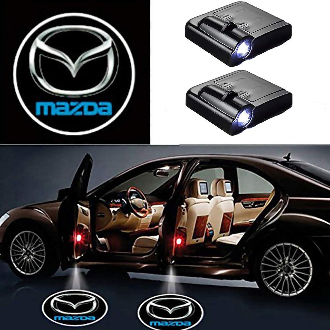 ワードローブサーマル取るBesline LED カーテシランプ 2個セット 全18種類 選択可 カーテシライト ゴーストシャドーライト 投影用フィルム 取り付け簡単 配線不要 ドアカーテシランプ レーザーロゴライト ドアウェルカムライト (Jeep)