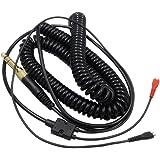 Meijunter Cable de los auriculares del reemplazo Cable enrollado cuerda línea Headphoens Cable para Sennheiser HD25 HD25sp HD540 HD480 HD430 HD222 HD224 HD230 HD250 HD 250 Linear II (Stretch up to 4m)