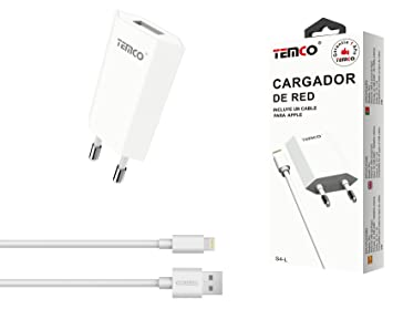 Temco S4-L-B - Cargador U5V1A con Cable Apple de Dos Puertos ...