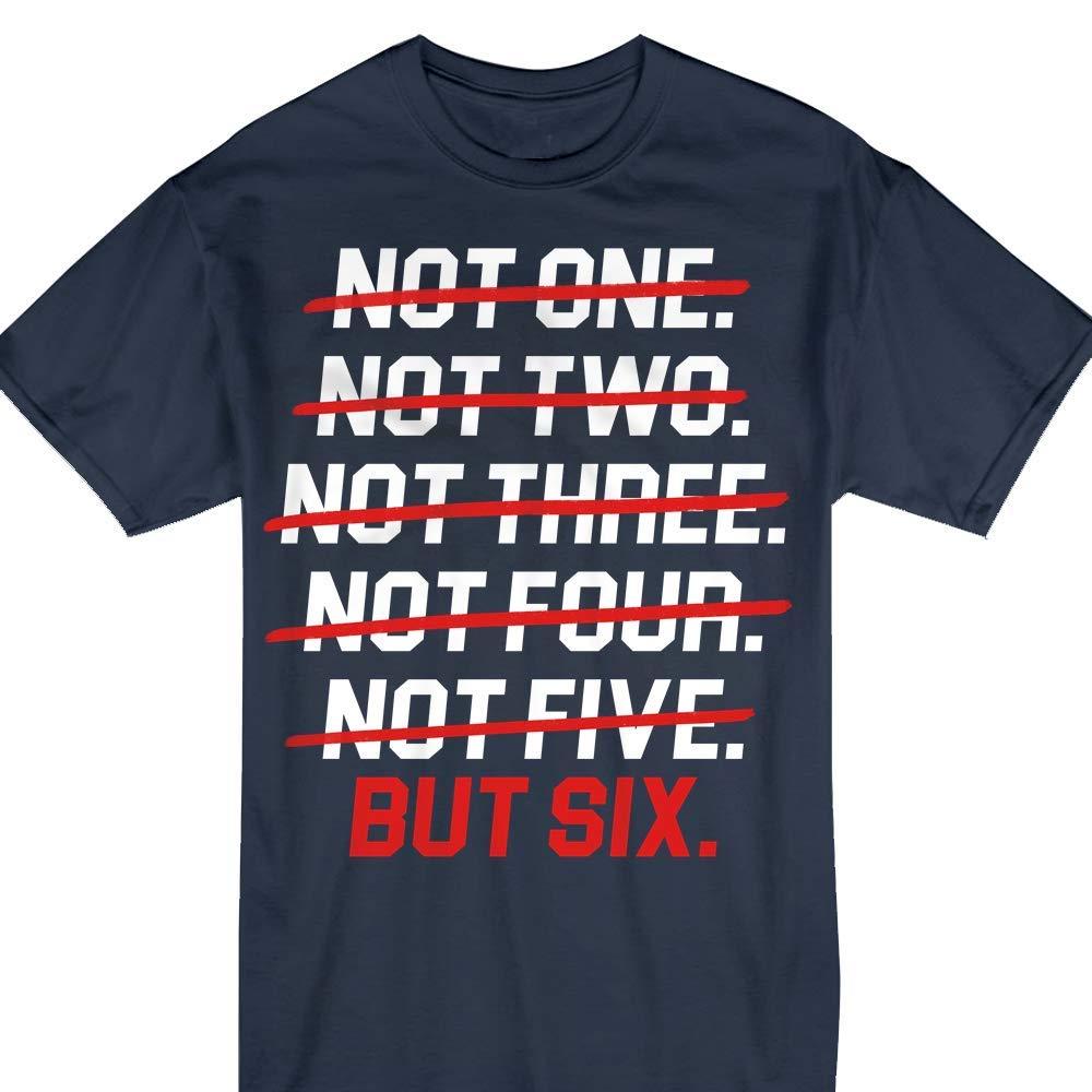 Not One New England 6 Rings World Champions Football Tshirt