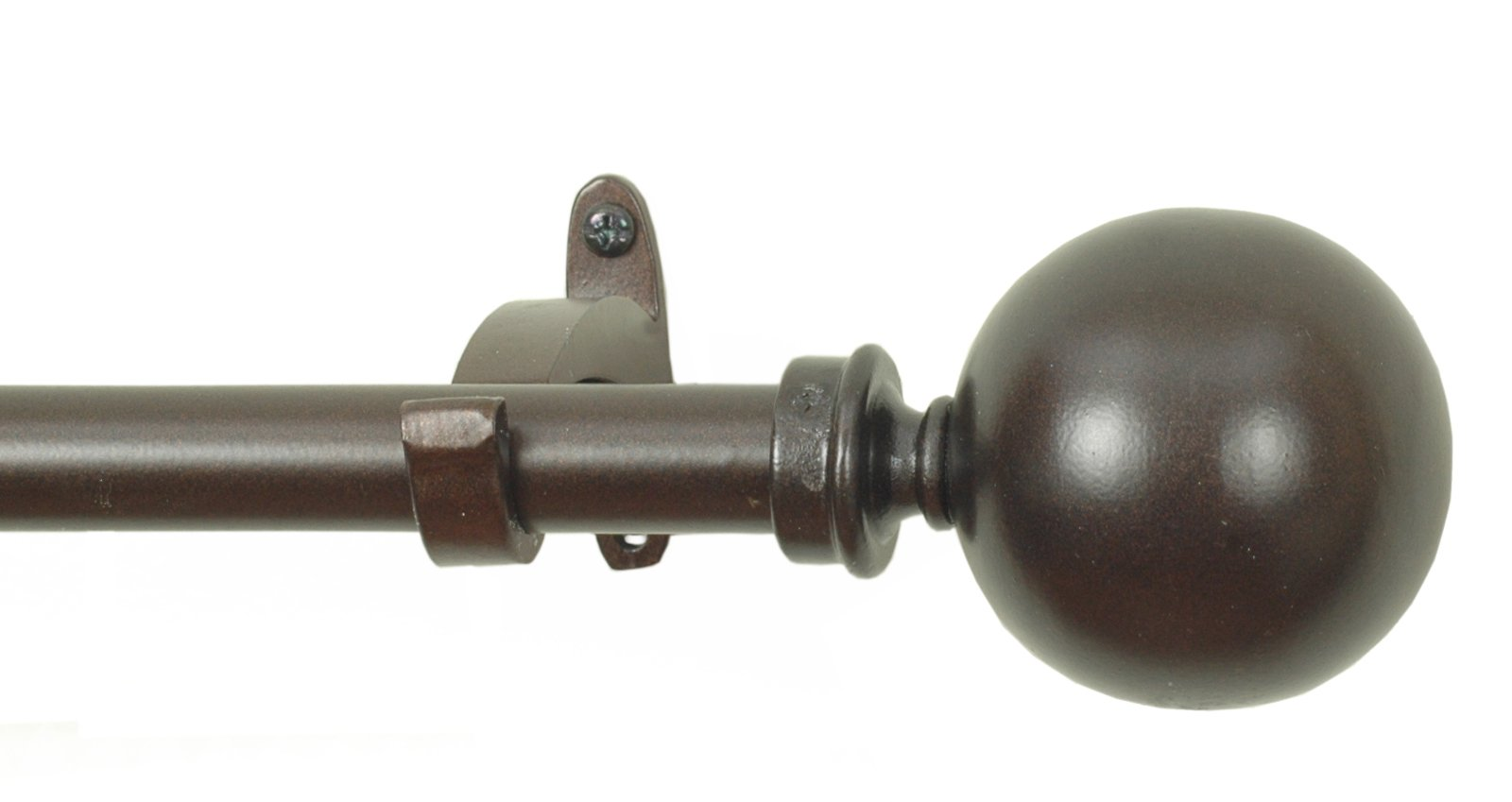 RULU 28055 28 to 48-Inch Oil Rubbed Ball Drapery Hardware with 3/4-Inch Pipe