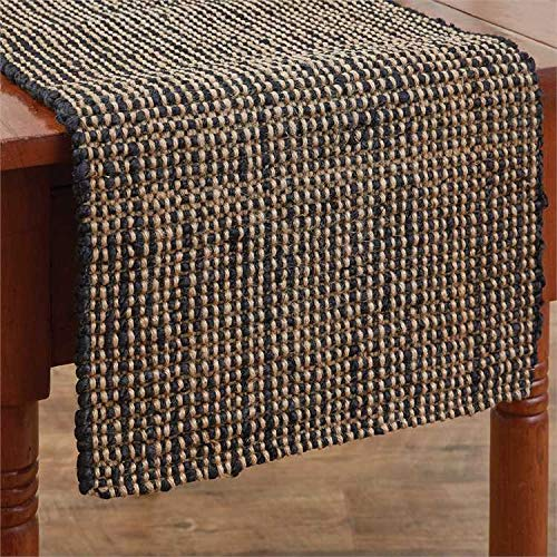 Boucle Jute - Park Designs Jute Boucle Table Runner - Black, 14