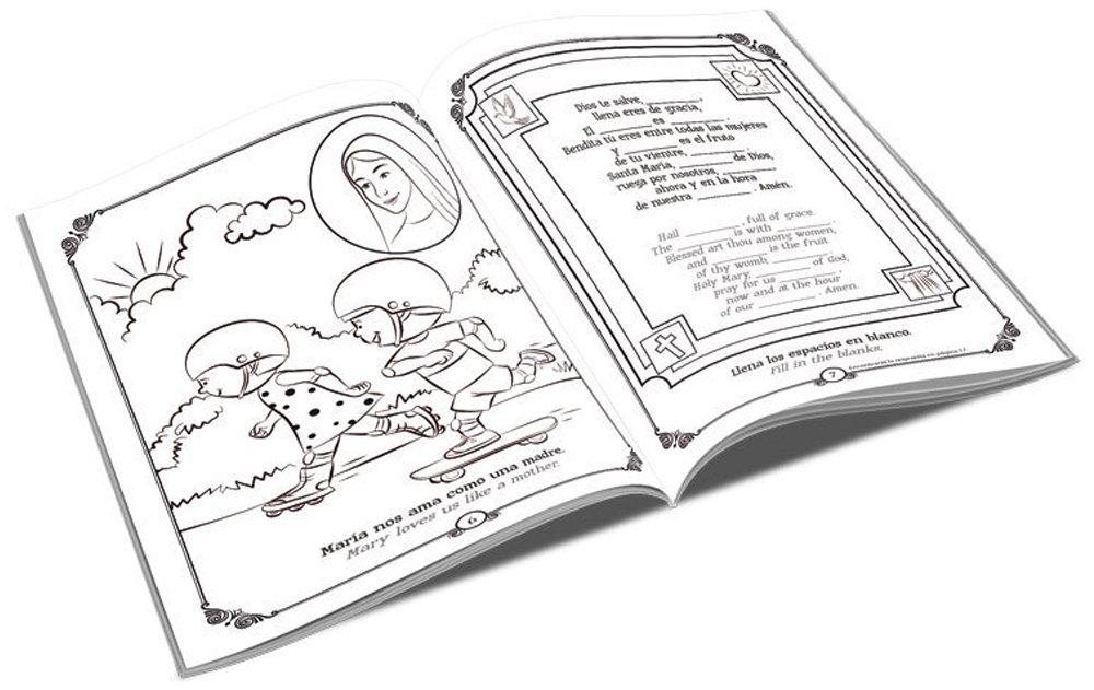 Amazon.com: El Rosario Libro para Colorear Y De Actividades (The ...