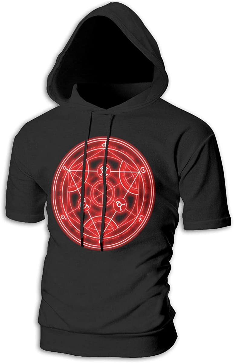 BilliePhillips Mans Fullmetal Alchemist Sports Drawstring Short Sleeve Sweatshirt
