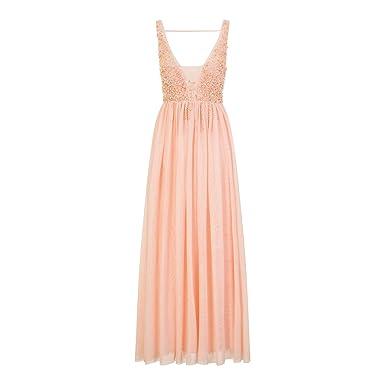 vente chaude en ligne 2af39 6f5fa Little Mistress Robe longue en tulle - Femme (FR 40) (Rose ...