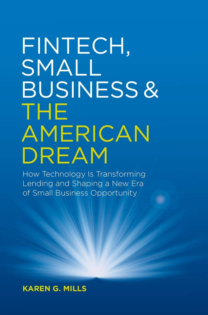 Amazon Com Fintech Small Business The American Dream How Technology Is Transforming Lending And Shaping A New Era Of Small Business Opportunity 9783030036195 Mills Karen G Books