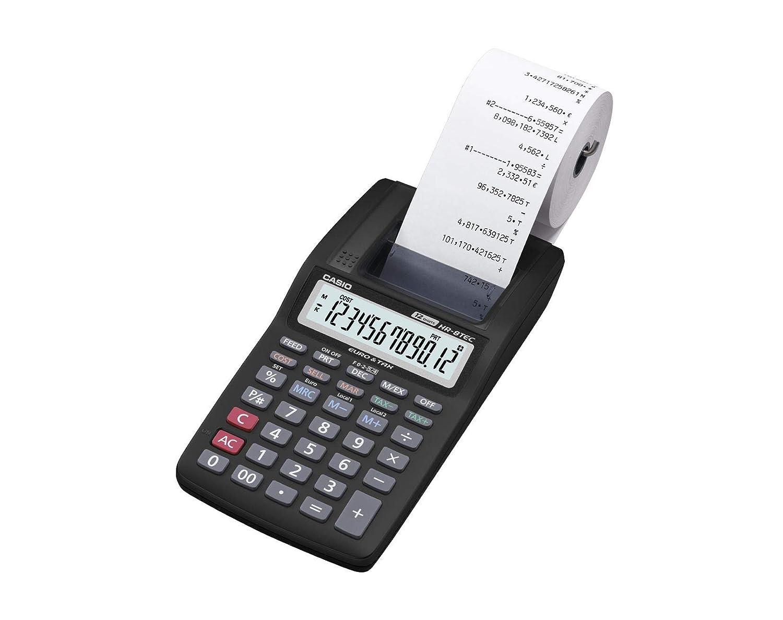 CASIO HR-8TEC- Impresora, 66.0 x 99.0 x 243.5 mm, negro: Amazon.es ...