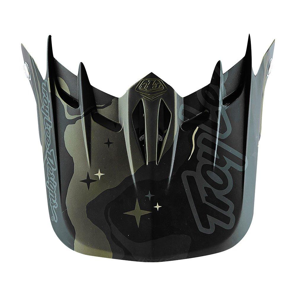 Troy Lee Designs Adult D2 Visor Galaxy BMX Helmet Accessories - Green/One Size