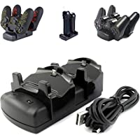 Kailisen PlayStation 3 Controller Charger PS3 / PS3 Move / PS4 Dock with USB Cable, 2 Port Charging Dock Station…
