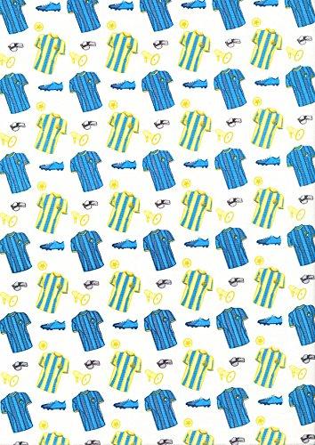 Camiseta de porcelana azul - 1 metro de portería, material de ...