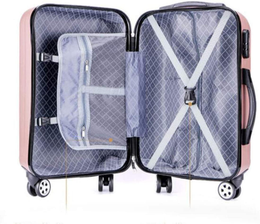 41 20 40 Size Color Silver Suitcase for Travel Durable Lightweight Hard Shell Suitcase cm Color : Black, Size : 17816 inch