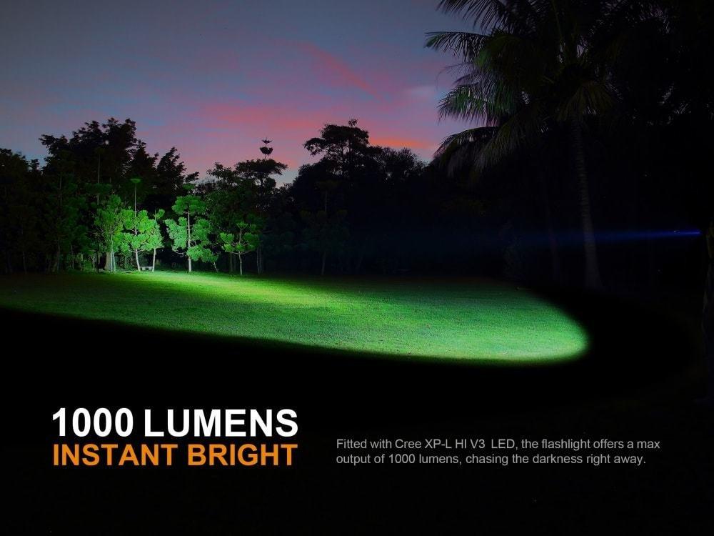 EdisonBright Fenix PD35 V2.0 2018 Upgraded V2 1000 Lumen CREE XP-L HI V3 LED Flashlight with 2 X CR123A Lithium Batteries Bundle