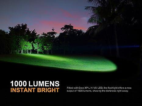 Amazon.com: Fenix PD35 V2.0 2018 Upgrade 1000 Lumen Flashlight w/ Fenix 3500mAh Built-in USB Rechargeable Battery & LumenTac Charging Cable: Sports & ...