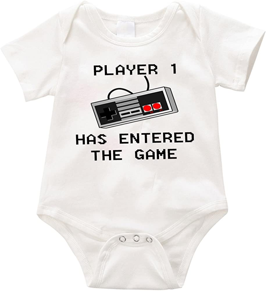 Anicelook Player 1 has entered the game infant romper onesie creeper