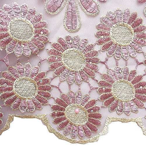 Lilac French Dress Yards Fabric African for Magenta Wedding Lace WorthSJLH LF847 5 Beaded xgR1nW7