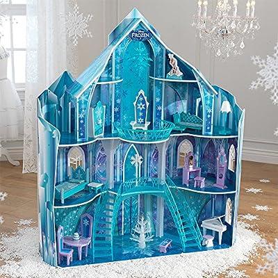 Amazon Com Kidkraft Disney Frozen Snowflake Mansion Dollhouse Toys