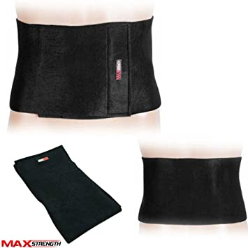 dbf5ca0eb8 Slimming Belt Waist Trainer Stomach Wrap For Weight And Fat Loss Black  Colour