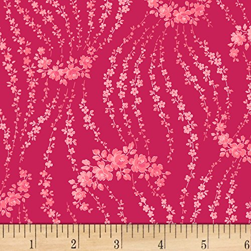 (RJR Fabrics Rosette Giverny Rouge Fabric by The Yard,)