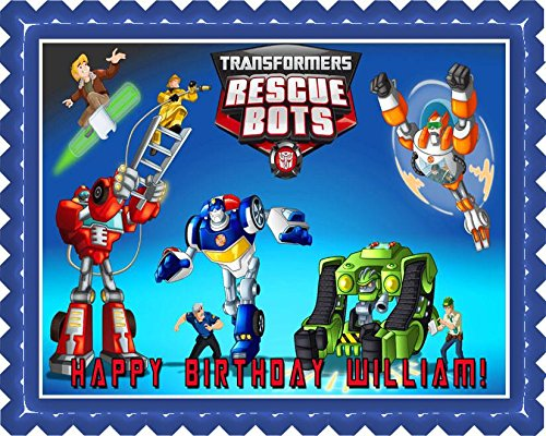 Transformers Rescue Bots 1 Edible Cake Topper - 7.5