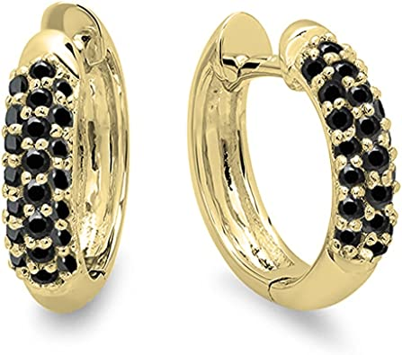 14k Two-Tone Gold Curled Hoop Earrings, 35mm X 35mm